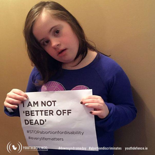 Disabled I Am Not Better Off Dead