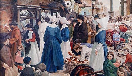 The Breadline 1916 by Muriel Brandt