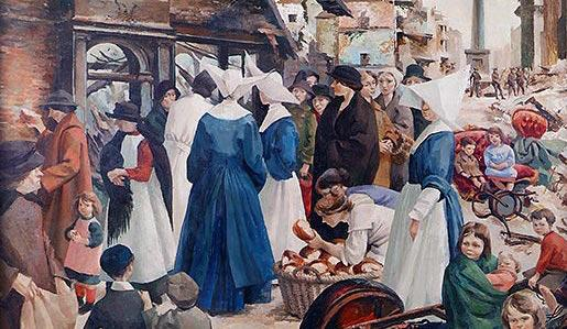 The Breadline 1916 by Muriel Brandt