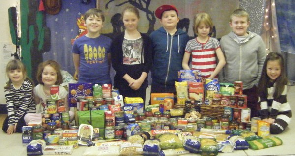 Foodbank school collection Cheshire