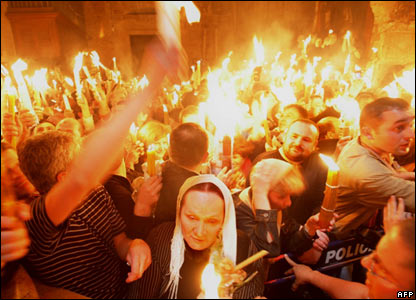 Holy Fire Jerusalem Orthodox Easter Saturday