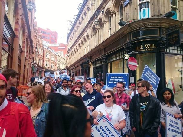 March for Life Brum 14th May 2016