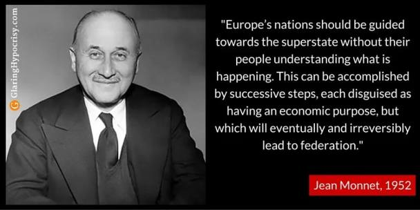 EU meme Jean Monnet founding father of the EU