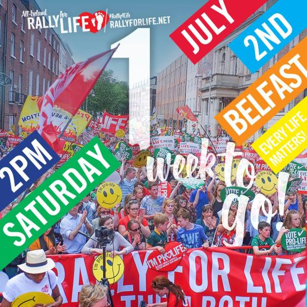 Rally for Life Belfast 1 week