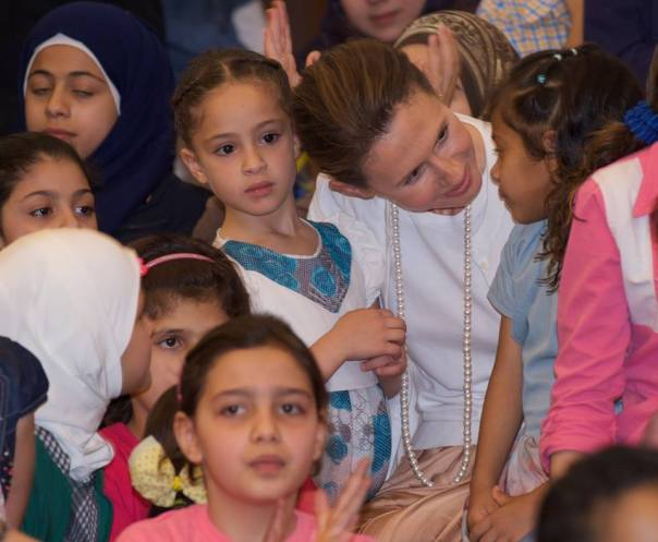 Asma al-Assad with Syrian war orphans