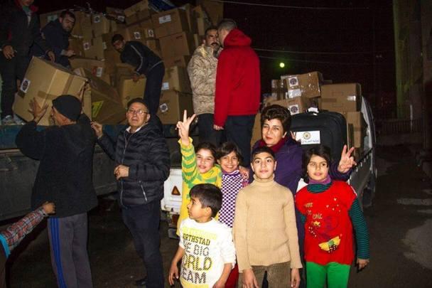 Sol.Id onlus aid distribution Syria