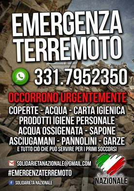 Solidarieta Nazionale earthquake